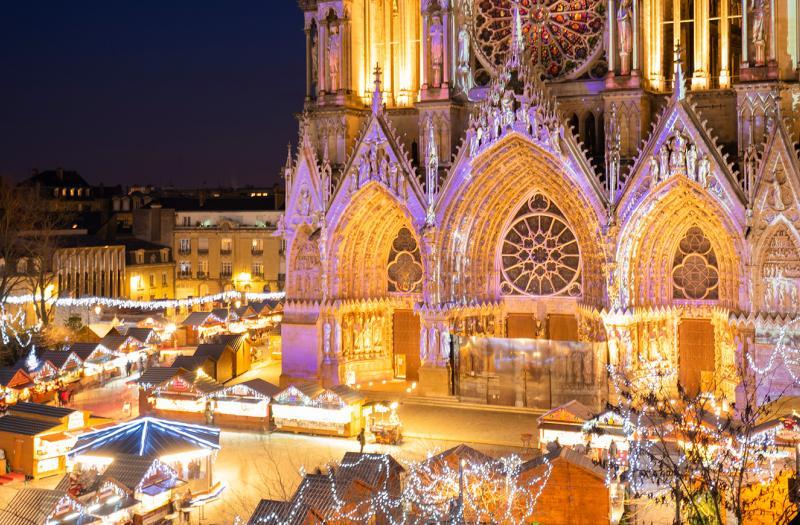 Marché de Noël - Cathédrale de Reims