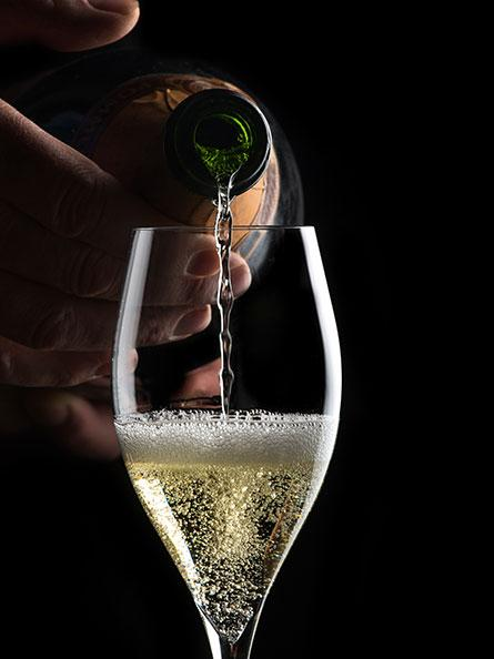 Fines bulles de champagne