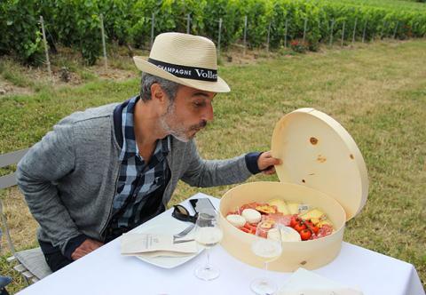 Champagne Vollereaux - pique nique dans les vignes