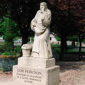 Statue de Dom Pérignon Sainte-Ménehould