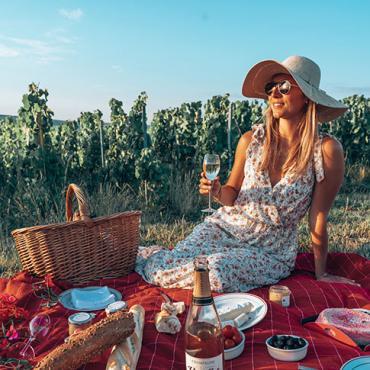 Pique-nique dans les vignes de Champagne