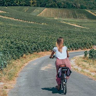 Vélo dans le vignoble de Champagne - Hautvillers