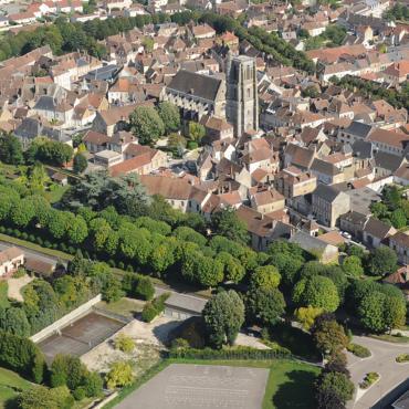 Vue aérienne de Sézanne